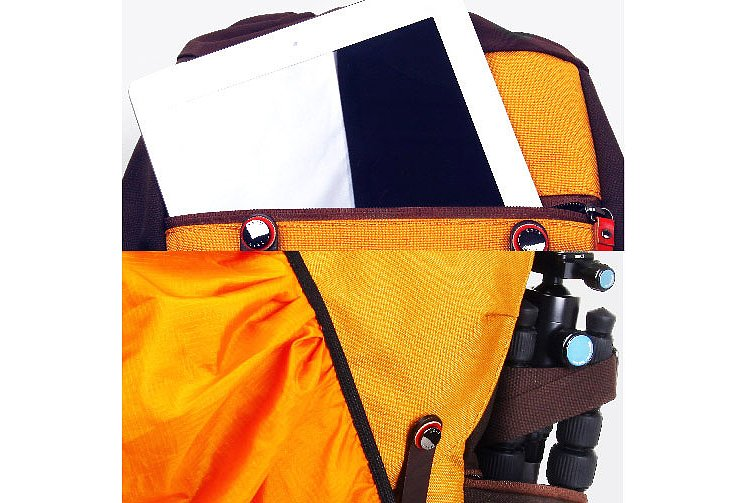 Bild 4 - ZKIN Fotorucksack Getaway Kampe Orange-Brown