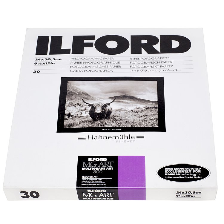 Bild 1 - ILFORD MULTIGRADE ART 300 - Totmatt (Baryt) - 18x24 / 50 Blatt - Gradation: variabel