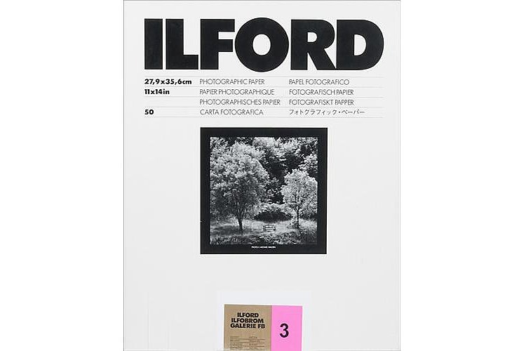 ILFORD Ilfobrom Galerie FB Gradation 3 - Natural Gloss - 18x24 / 100 Sheets - Gradation: Normal (3)
