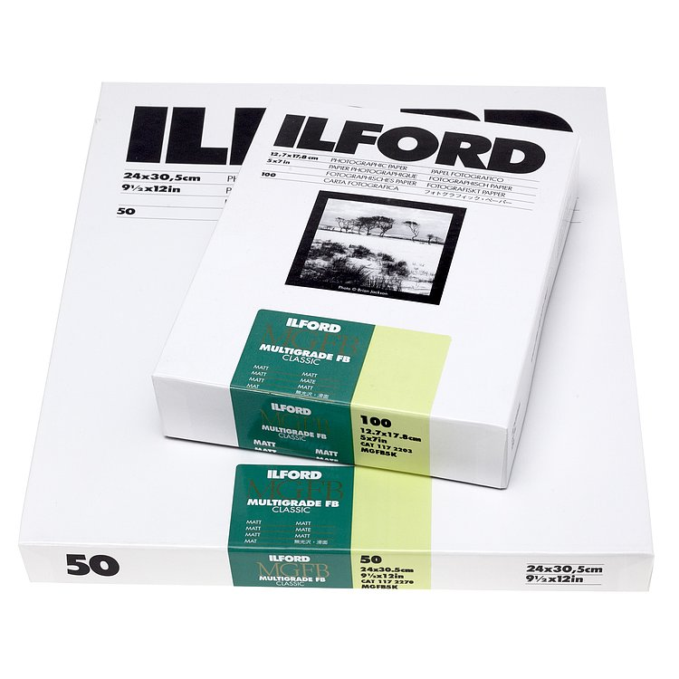 Bild 1 - ILFORD Multigrade FB Classic 5K - Totmatt (Baryt) - 8 INCHx10 INCH / 25 Blatt - Gradation: variabel
