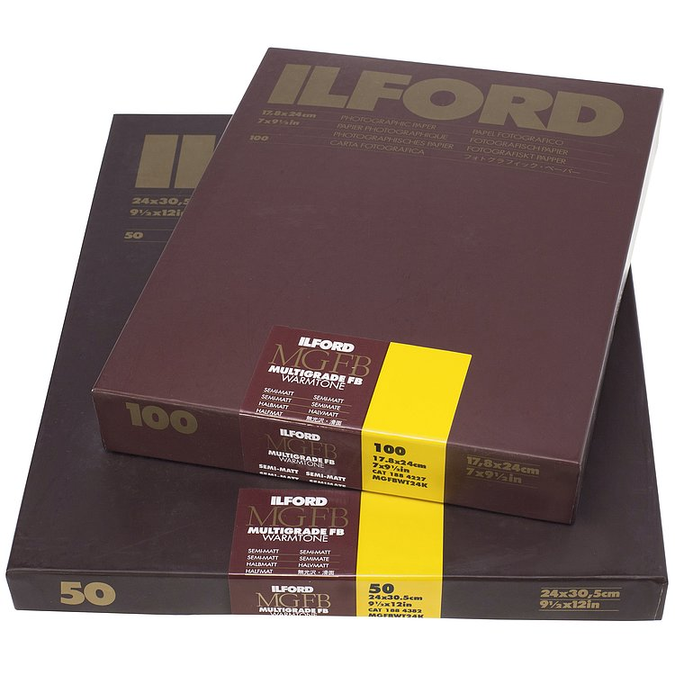 Bild 1 - ILFORD Multigrade FB Warmtone 24K - Halbmatt (Baryt) - 50x60 / 10 Blatt - Gradation: variabel