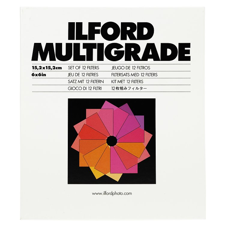 Ilford: Multigrade Filter-Satz Gelatine 15x15cm