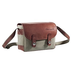 OBERWERTH Freiburg Cordura Leather Light Brown ( Camera Bag 100% Made In Germany)