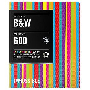 IMPOSSIBLE 600 B&W 8 Bilder Hard Color