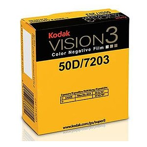 KODAK 50D Color Negative Film VISION3 7203, 50 ft Super 8 Cartridge