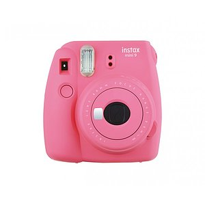 FUJI Instax Mini 9 flamingopink incl. Batteries + belt