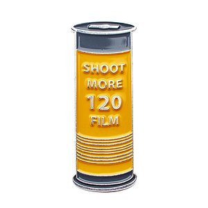 OFFICIAL EXCLUSIVE Shoot more 120 Film Pin / Anstecknadel