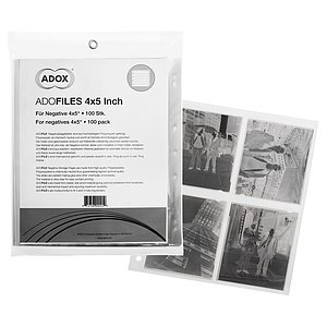 ADOX Adofile PolypropyleNe Negative Sleeves For 9x12 cm (4x5-Sleeves)
