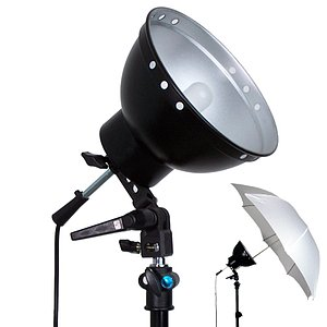 ADOLIGHT 21cm Lamp With Lamp Socket And Metal Reflector