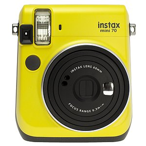 FUJI Instax Mini 70 Canary Yellow , inkl. Batterien, Trageschlaufe