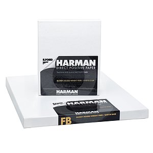 HARMAN Direct Positive Papier - Naturglanz (Baryt) - 8 INCHx10 INCH / 25 Blatt