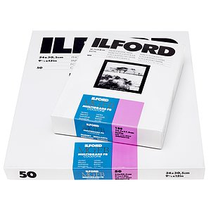 ILFORD Multigrade FB Cooltone 1K - Naturglanz (Baryt) - 40x50 / 10 Blatt - Gradation: variabel
