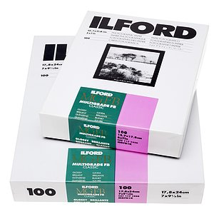 ILFORD Multigrade FB Classic 1K - Naturglanz (Baryt) - 24x30 / 50 Blatt - Gradation: variabel