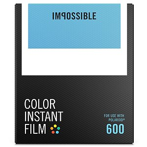IMPOSSIBLE Color Film für Polaroid 600er Kameras