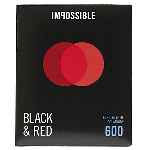 IMPOSSIBLE Black & Red Duochrome (for Polaroid Type 600 and I-type)