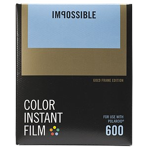 IMPOSSIBLE Color Film 600 Gold Frame (for Polaroid Typ 600)