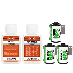 Bundle out of 3 X ILFORD HP5+ 135/36 400 ASA + ADOX FX-39 100ml Concentrate + ADOX BABY ADOFIX Plus 100 ml Concentrate