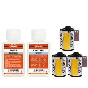 Bundle out of 3 X KODAK TRI-X 400 135/36 + ADOX FX-39 100ml Concentrate + ADOX BABY ADOFIX Plus 100 ml Concentrate