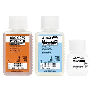 Bundle out of ADOX RODINAL 100 ml Concentrate + ADOX BABY ADOFIX Plus 100 ml Concentrate + ADOX BABY ADOFLO 50 ml Concentrate