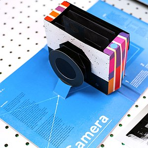 BUCH/ZEITSCHRIFT This Book is a Camera (pop-up camera by Kelli Anderson)