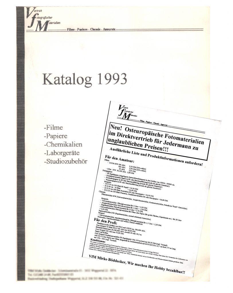 Der erste Katalog